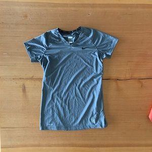 Nike dri fit exercise shirt.